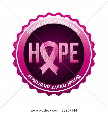 Breast cancer design over white background vector illustration
