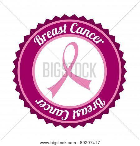 Breast cancer design over white background vector illustration