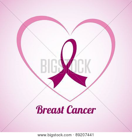 Breast cancer design over pink background vector illustration