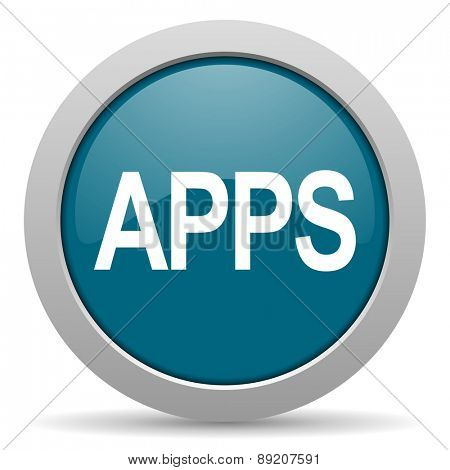 apps blue glossy web icon
