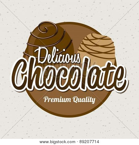 chocolate design over white background vector illustration