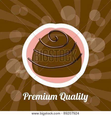 chocolate design over brown background vector illustration