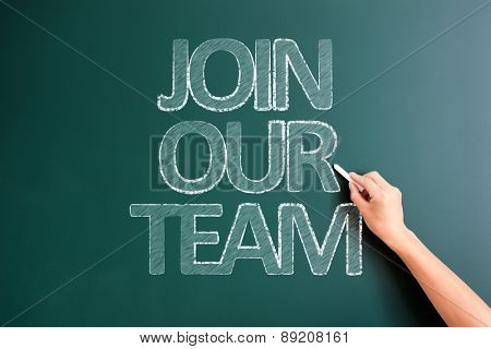writing join our team on blackboard