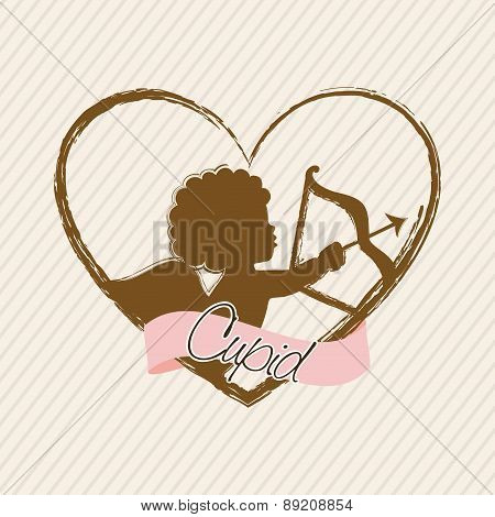 valentines day over beige background vector illustration