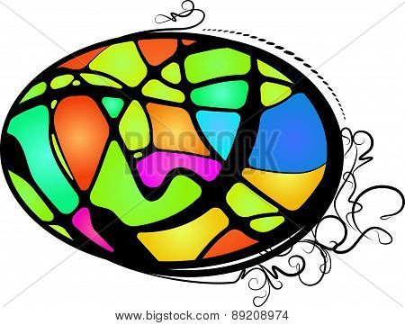 Abstract Stained Glass. Vector