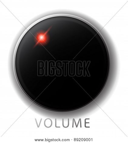Vector Volume Control With Red Led, Isolated
