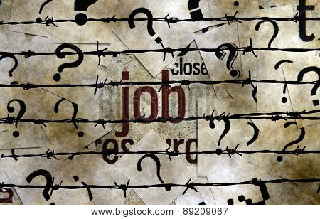 Job And Question Mark Concept
