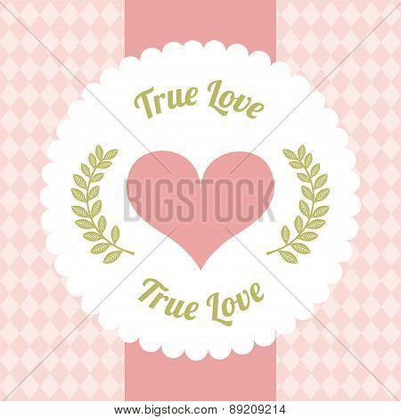 love design day over pink background vector illustration