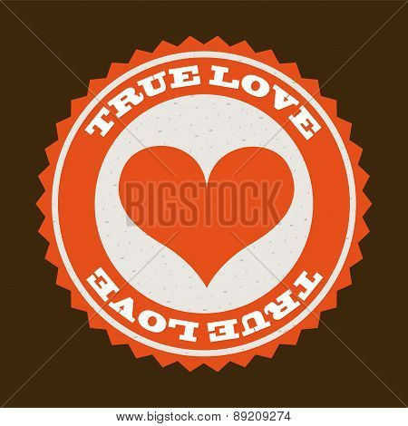 love design day over brown background vector illustration