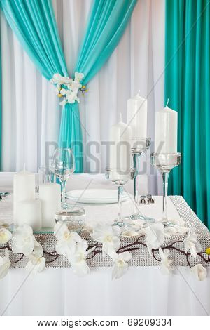 Decorated Wedding Table.