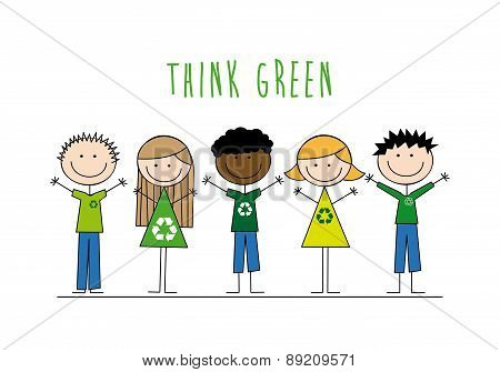 Ecology design over white background vector illustration