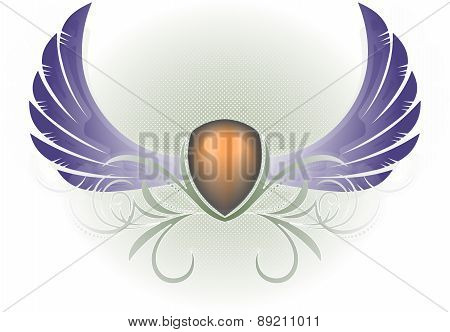 Heraldic Wings And Award
