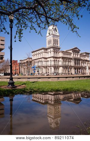 City Hall Building Downtown Louisville Kentucky Built 1871