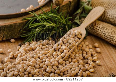 Raw And Healthy Chickpeas