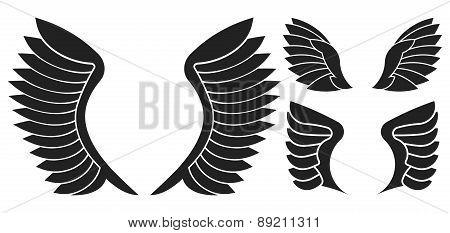 Set Of 3 Pair Of Wings
