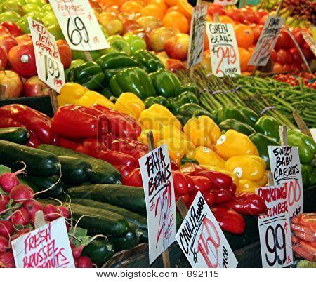 colorful produzieren Markt