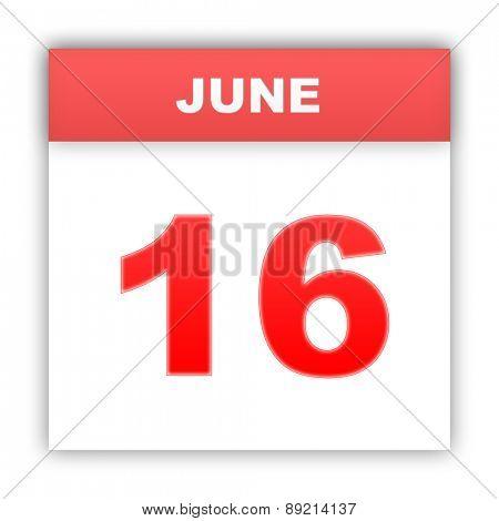 June 16. Day on the calendar. 3d