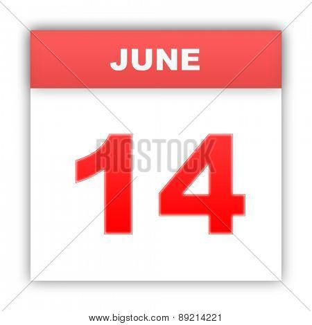 June 14. Day on the calendar. 3d