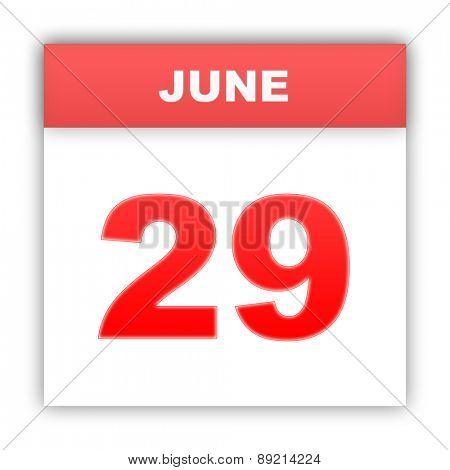 June 29. Day on the calendar. 3d