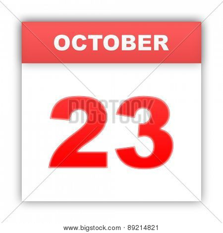 October 23. Day on the calendar. 3d