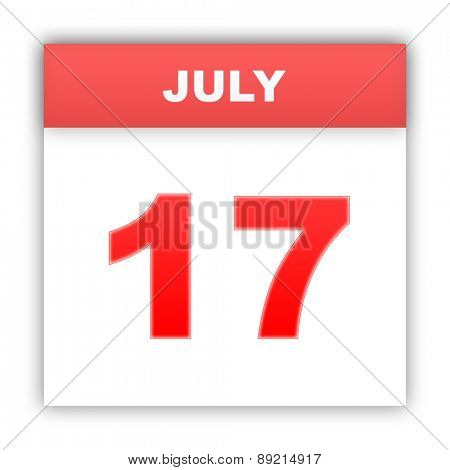 July 17. Day on the calendar. 3d