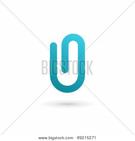 Letter O Number 0 Clip Logo Icon Design Template Elements