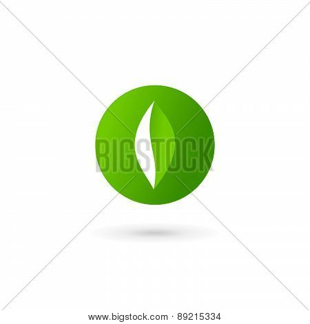 Letter O Number 0 Eco Leaves Logo Icon Design Template Elements