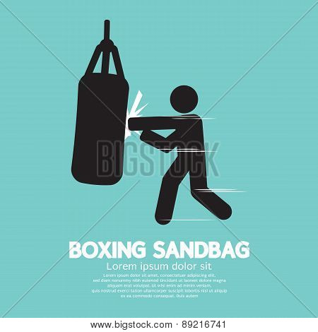 Sandbag For Boxer Graphic Symbol.