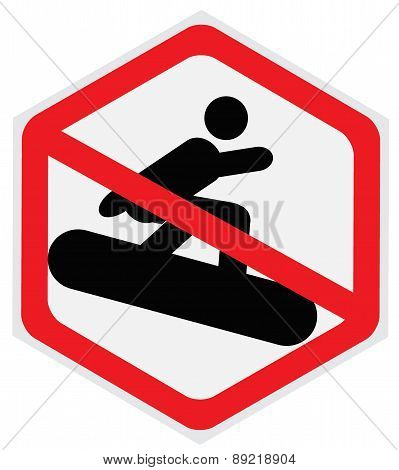 no snowboarding sign