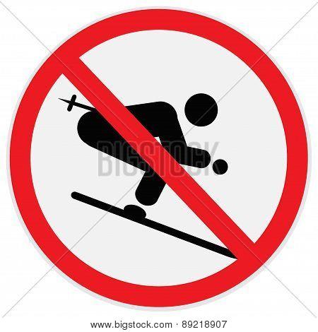 no Downhiil,skiing,sign