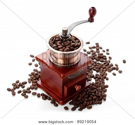 Fresh Coffee Bean And Coffee Bean Grinder