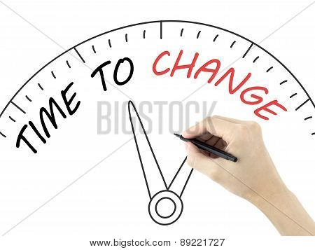 Time To Change Written By Man's Hand