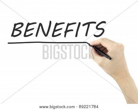 Benefits Written By Man's Hand