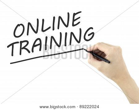 Online Training Words Written By Man's Hand