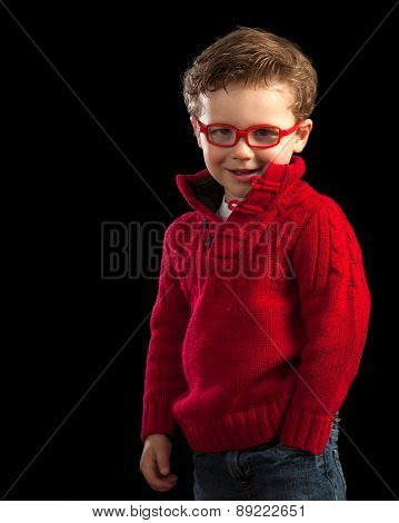 Young Boy In Red