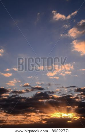 Colored Clouds at Sunset