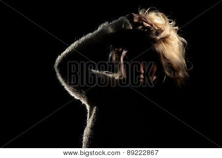 Dramatic Latina Blonde Girl