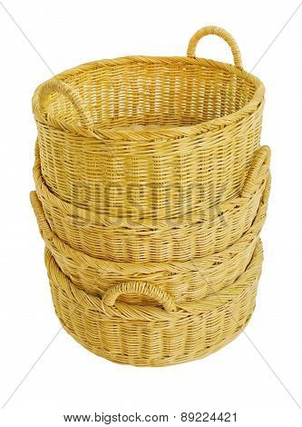 Empty wicker basket, Four basket