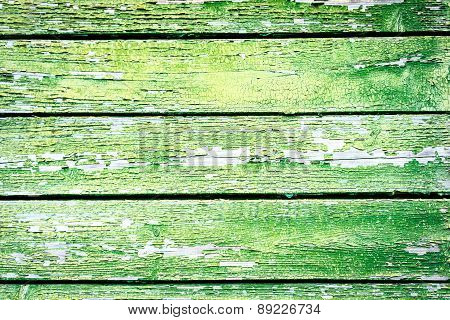 Wood Plank Painted Green Texture For Your Background