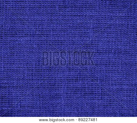 Blue (pigment) color burlap texture background