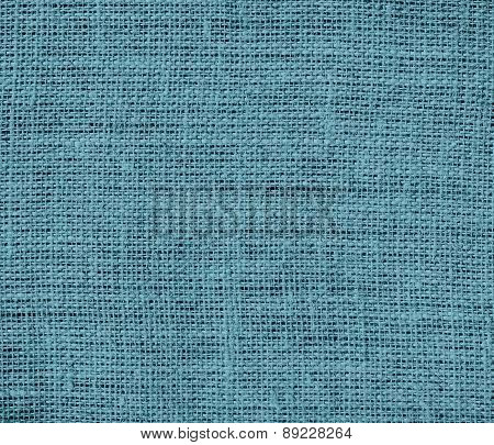 Blue Lagoon color burlap texture background