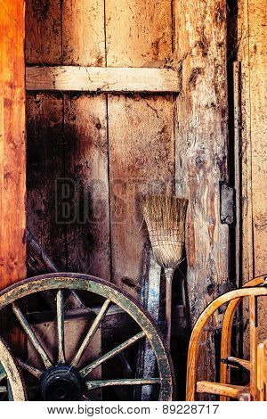 Old Barn Interior Background