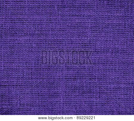 Blue-magenta violet color burlap texture background