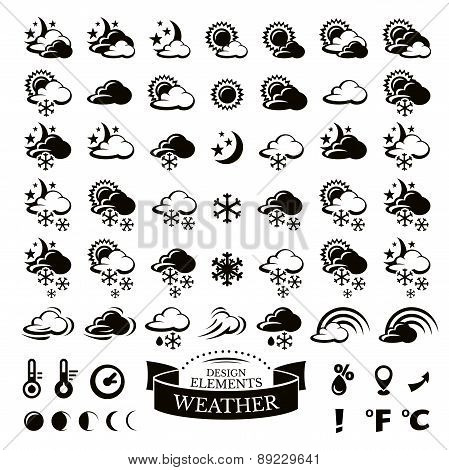 Collection Of Different Weather Icons
