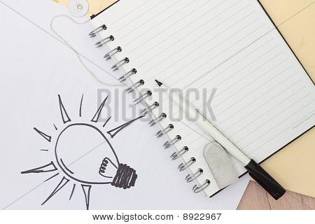 Hand-drawn Light Bulb