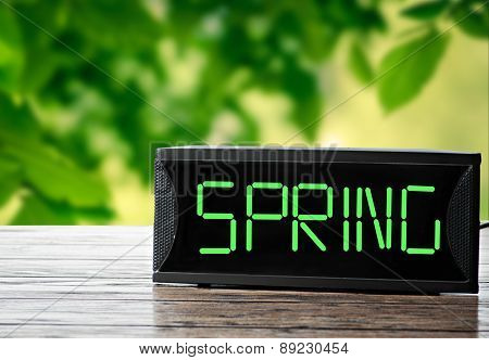 Spring Time On The Digital Clock