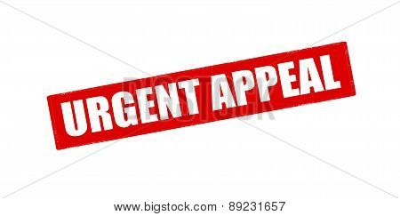 Rubber stamp with text urgent appeal inside vector illustration