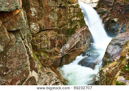 Sabbaday Falls in White Mountain National Forest, New Hampshire, USA.