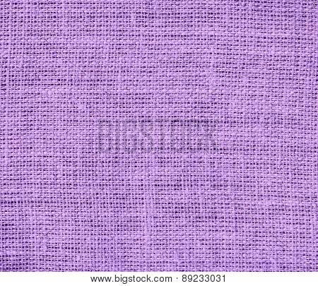 Bright lavender color burlap texture background