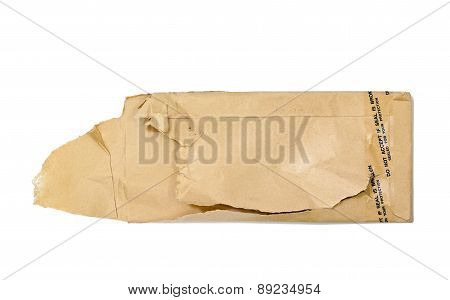 Brown Torn Envelope